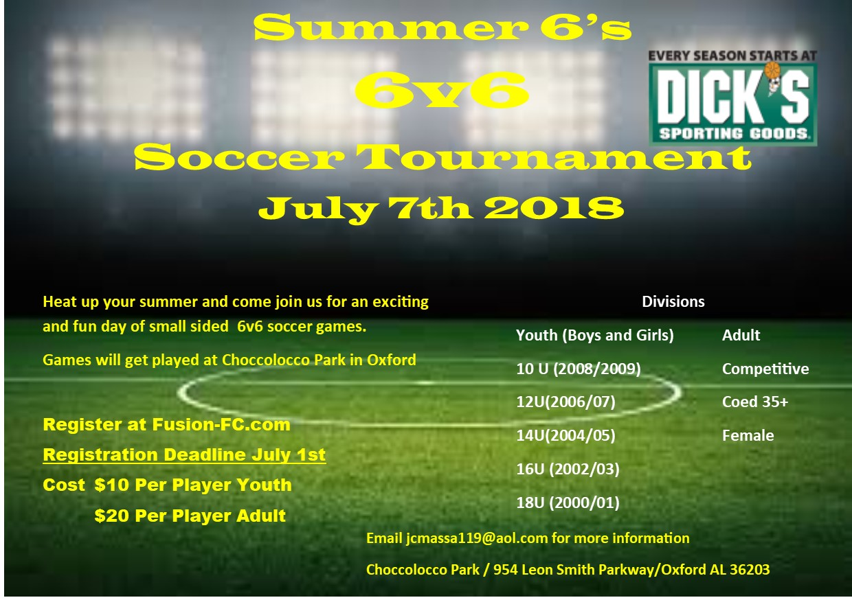 Summer 6's (6v6 Tournament)